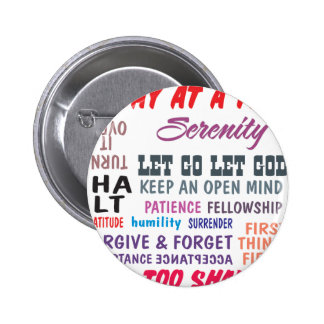 an array of aa slogans 6 cm round badge