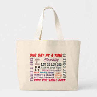 an array of aa slogans large tote bag