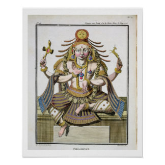 An aspect of Shiva, from 'Voyage aux Indes et a la Poster