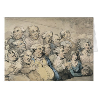 An Audience at Drury Lane Theatre (pen & ink and w Card