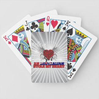 An Australian Stole my Heart Bicycle Poker Deck