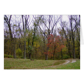 An Autumn Day Hike Cards Greeting Card