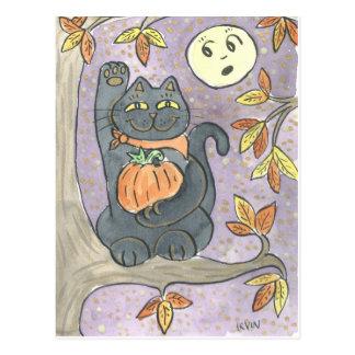 An Autumn Good Luck Wish Postcard