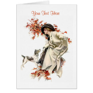 An Autumn Outing Greeting Card