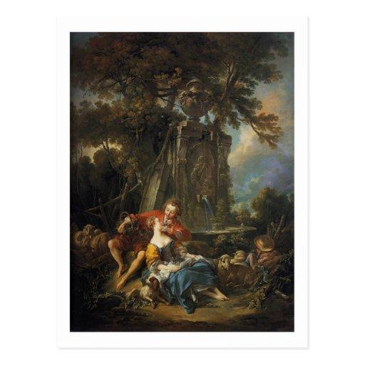 An Autumn Pastoral - François Boucher Post Cards