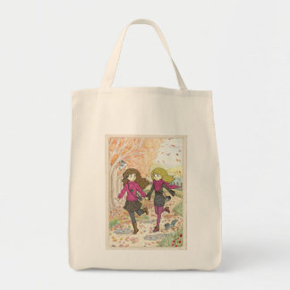 An Autumn Walk Grocery Tote Bag