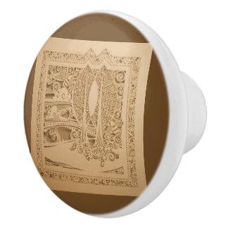 An Autumn Wind Ceramic Knob