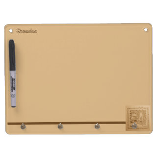 An Autumn Wind Dry Erase Board With Key Ring Holder