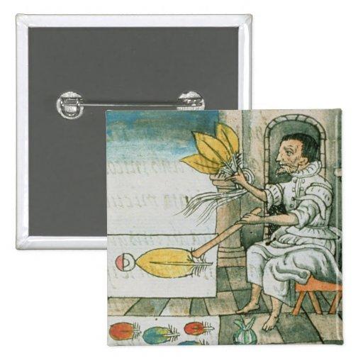 An Aztec feather artisan Pins