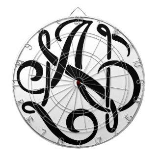 AN Black Monogram Dartboard