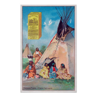 An Crow Indian Tepee, Maizena Product Ad Poster