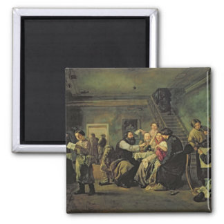 An Eating House, 1859 Square Magnet