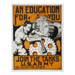 An Education For You ~ Join The Tanks Posters