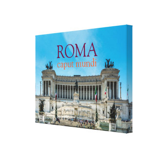 An elegant canvas with a iconic view of Rome Stretched Canvas Print