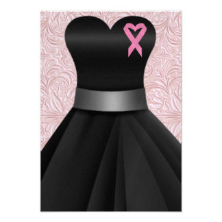 An Elegant Pink Ribbon Occasion  - SRF Personalized Announcement