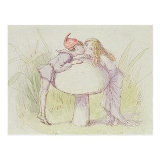 An Elf and a Fairy Postcard
