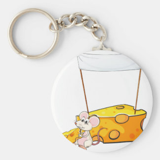 An empty banner above the mouse with a slice of ch keychain