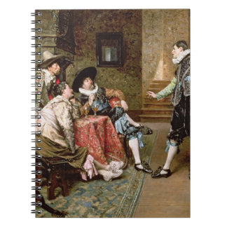 An Engaging Tale, 1894 (oil on panel) Notebooks