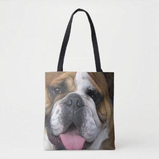 An english bulldog in Belgium Tote Bag