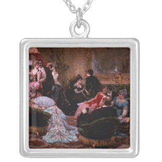 An Entertaining Evening Silver Plated Necklace