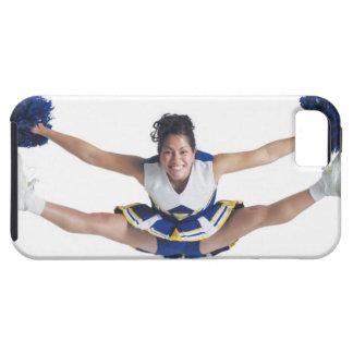 an ethnic teenage female cheerleader jumps high iPhone 5 case