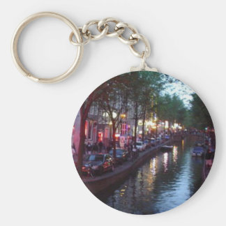 An evening in Amsterdam Key Ring