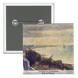 An Evening In Grand Camp By Seurat Georges Pinback Button