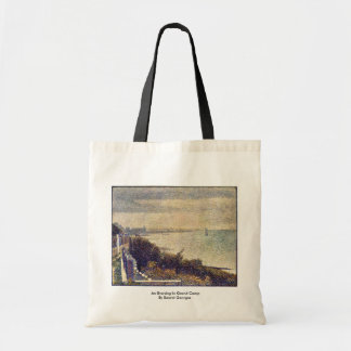 An Evening In Grand Camp By Seurat Georges Canvas Bags