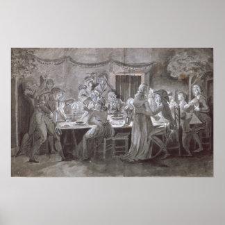 An Evening Wedding Meal Poster