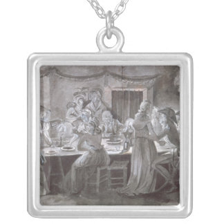 An Evening Wedding Meal Silver Plated Necklace