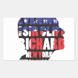 An Evening with Sir Cliff Richard Rectangular Sticker