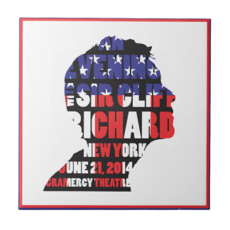 An Evening with Sir Cliff Richard Small Square Tile