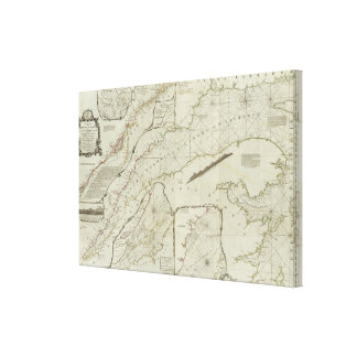 An exact chart of the River St Laurence Gallery Wrap Canvas