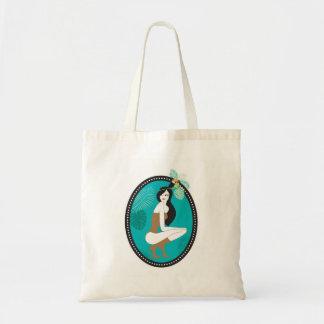 An exotic girl tote bag
