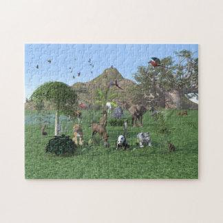An exotic wild animal scene. jigsaw puzzle