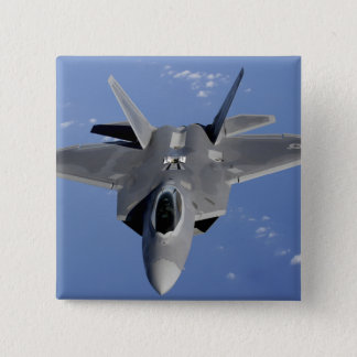 An F-22 Raptor moves into position to receive f 2 15 Cm Square Badge