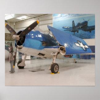 An F-6F Hellcat World War II fighter plane at Poster