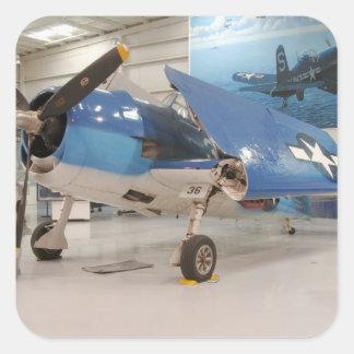 An F-6F Hellcat World War II fighter plane at Square Sticker