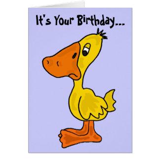 AN- Funny Ducky Birthday Card