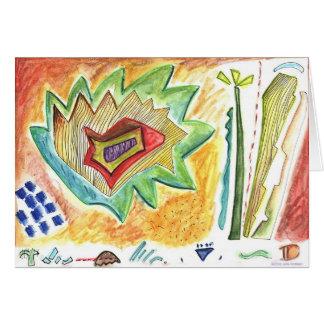 An Imaginary Flower Garden Card