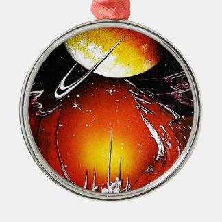 An IMAGINARY PLANET 1.JPG Metal Ornament