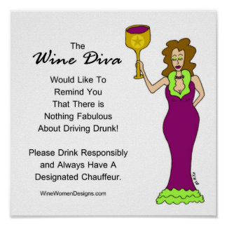 An Important Message from The Wine Diva Poster