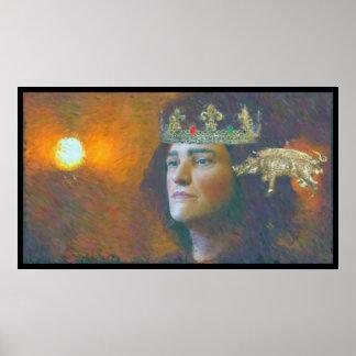 An impressionist artist paints Richard III Poster