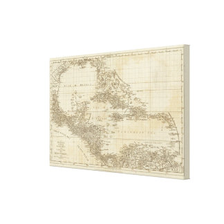 An index map gallery wrap canvas