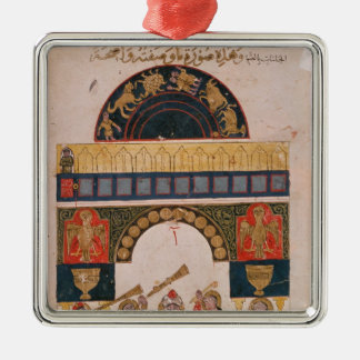 An Indian astrological chart Silver-Colored Square Decoration