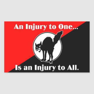 an injury to one is an injury to all rectangular sticker
