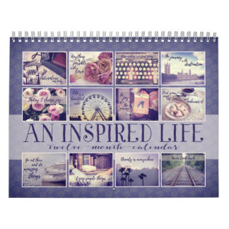 An Inspired Life | Vintage Quotations Indigo Wall Calendars