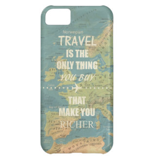 An inspiring travel quotes iPhone 5C case