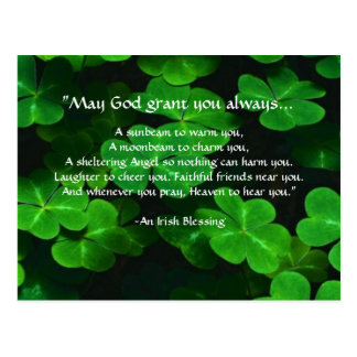 An Irish Blessing Postcard