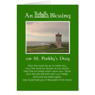 An Irish Blessing St. Patrick's Day-Custom Photo Greeting Card